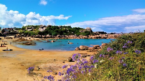 ploumanach bay self guided walking holiday coast path brittany